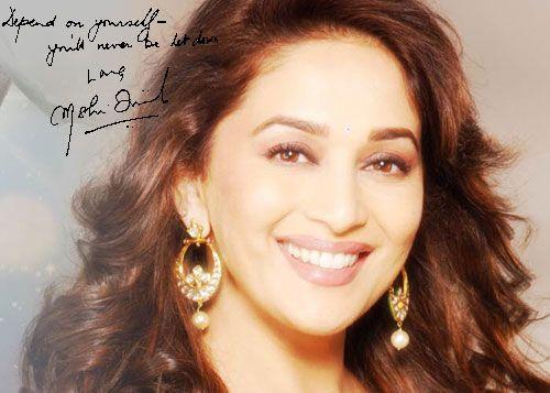 Madhuri Dixit - Autograph