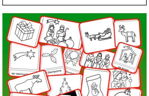 Weihnachten Arbeitsblatt - Free ESL projectable