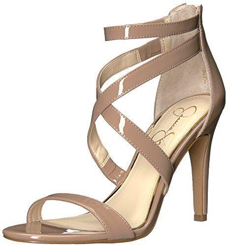 Jessica Simpson Women's Ellenie Heeled Sandal, Nude Paten... https://