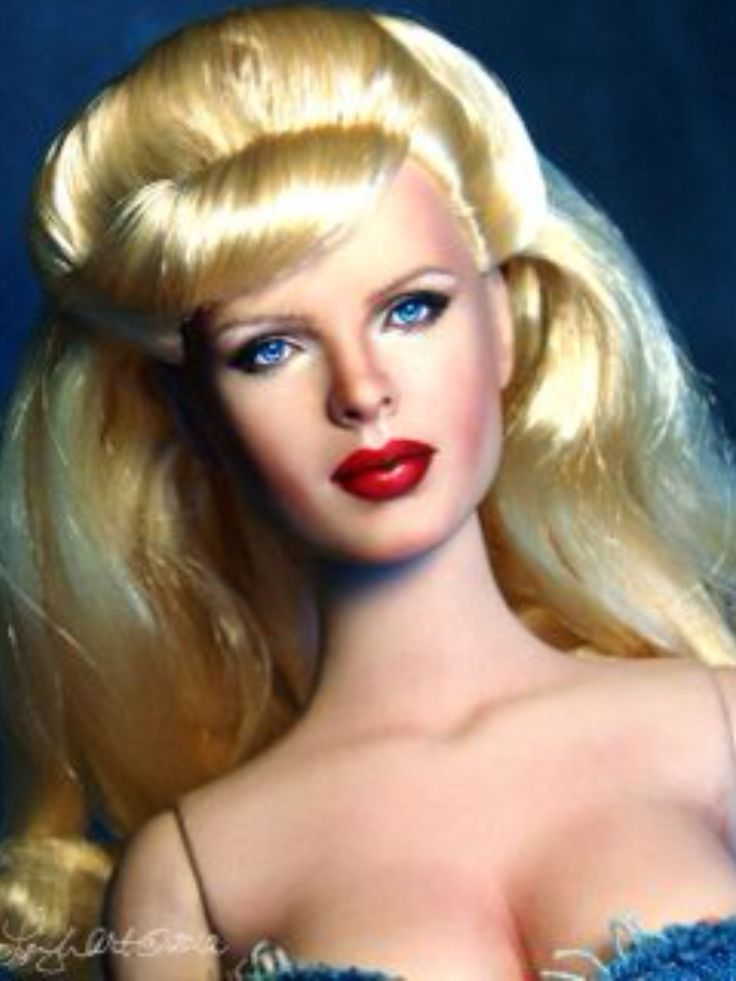 Barbie Repaint as Kim Basinger, by Noel Cruz.  Wow, does this ever look exactly like the actress!