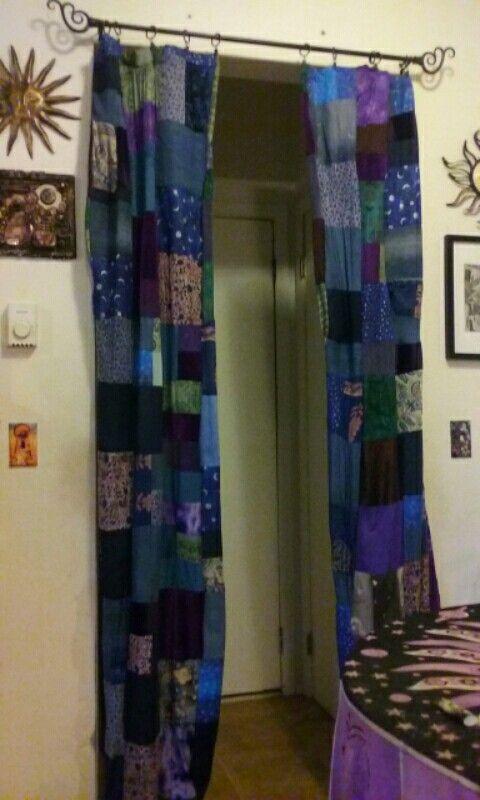 Handmade Boho Gypsy Curtains by Cali Black