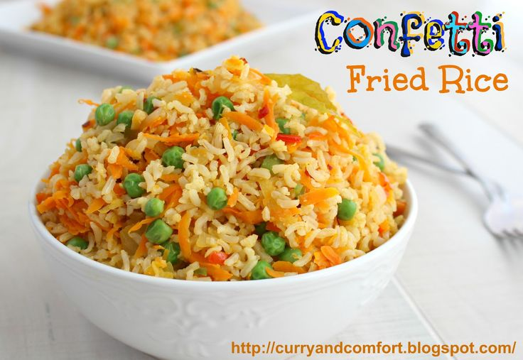 Curry and Comfort: Confetti Fried Rice (Vegetarian)