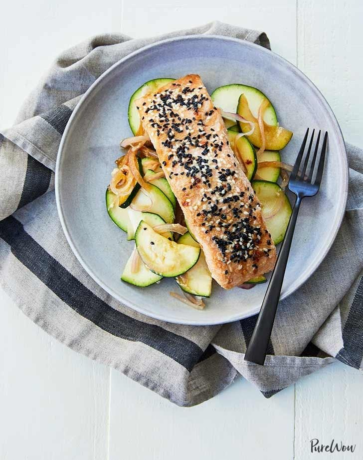 Sesame ginger salmon. Get this and 30 more easy summer dinners to make every night this month.