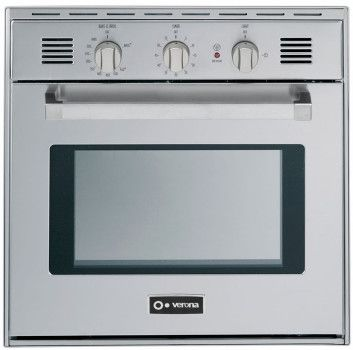 verona vebig24nss 24 inch single gas wall oven with 20 cu ft oven capacity
