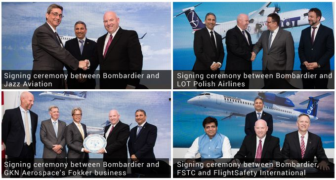 LOT Polish Airlines, Jazz Technical Services, GKN Aerospace and FSTC announce service deals with Bombardier for CRJ and Q Series aircraft operators