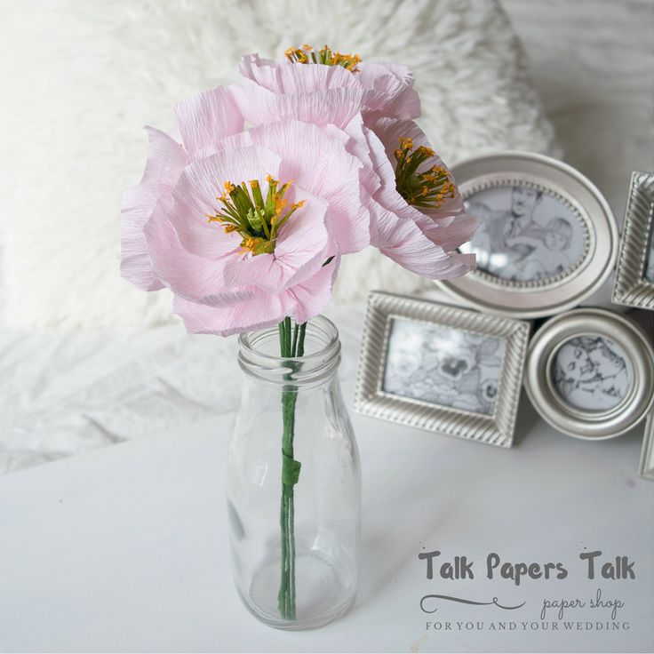 Icelandic poppies #paperflowers #crepepaperflowers #homedecorations…