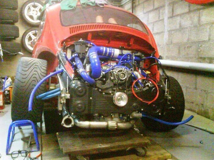 Volkswagen Beetle With A Subaru Turbo Engine Vwrxproject Vwrx Vw Volkswagen T1 Beetle Bug