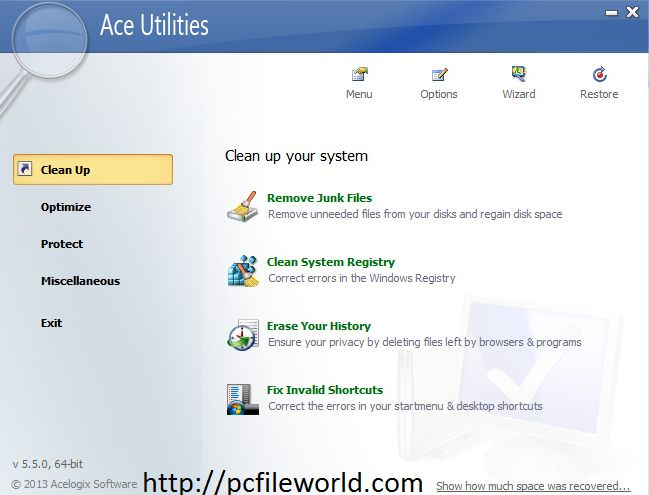 ACE UTILITIES Critically Acclaimed PC Cleaner Tool Free Download