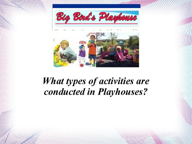Big Bird Playhouse â   Renowned Playhouse in Staten Island  Big Bird Playhouse is one of the oldest playhouses based in the Staten Island, New York. It was established in the year 1991. This is one of the playschools, where regular interaction between parents and teachers takes place. The childrenâ  s future is secure in this playhouse.