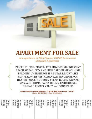 apartment marketing plan template - open house flyer for apartment sale open house flyer