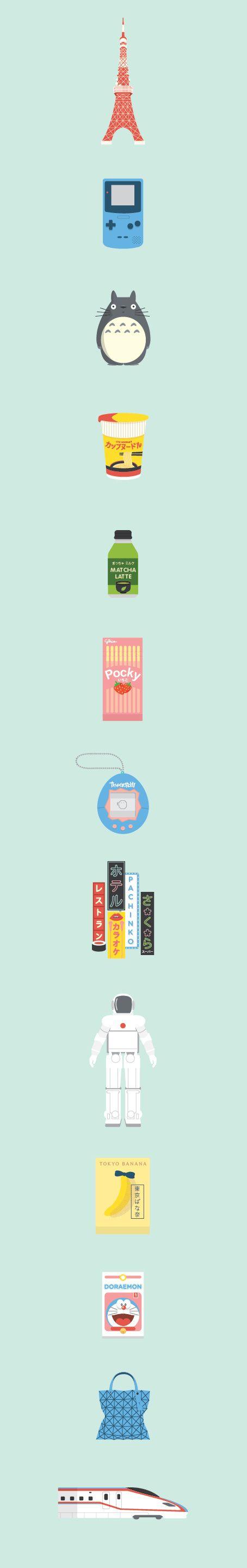 Japan Icons Illustra...
