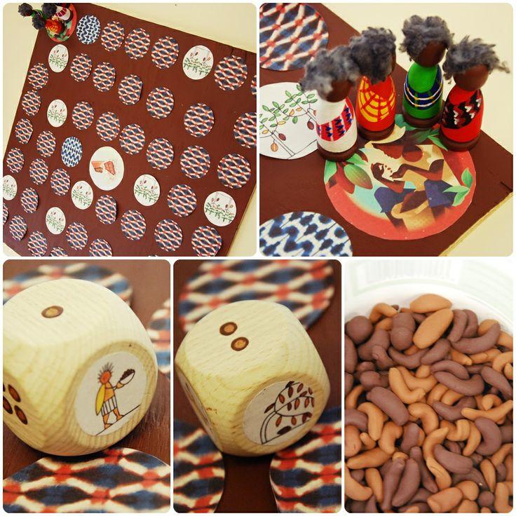 Bordspel: verzamel de cacaobonen voor het produceren van chocola!