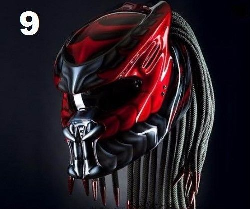 PROMO FREE SHIPPING US BRIGHT RED STREET FIGHTER PREDATOR HELMET DOT APPROVED #CELLOS