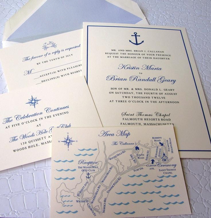 Nautical Wedding Invitation Suite.