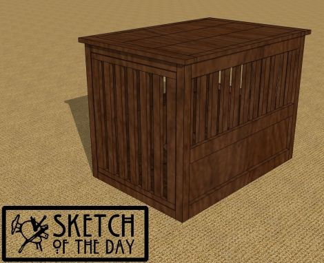 pet crate end table chief 39 s shop sketch of the day pinterest