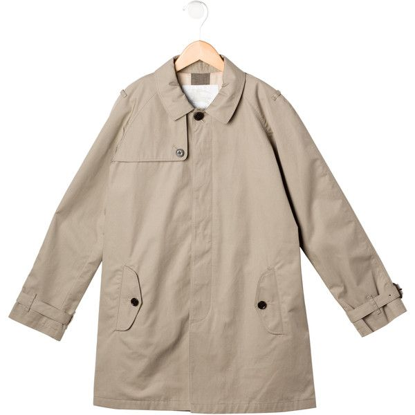 Pre-owned Burberry Boys' Trench Coat (605 BRL) ❤ liked on Polyvore featuring brown