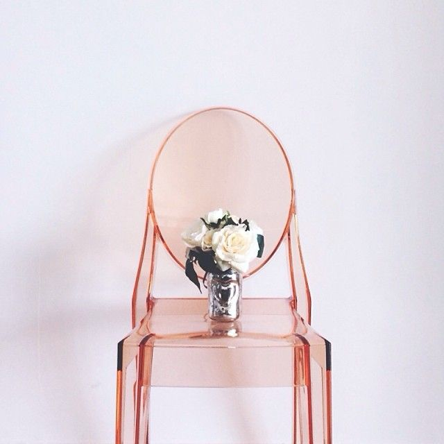 Kartell pink victoria ghost chair ♡