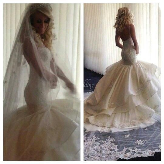 2016 Sexy Sweetheart Backless Lace Wedding Dresses Button Tiered Skirts Organza Appliques Elegant Bridal Gowns With Removale Long Train Wedding Dresses Lace Wedding Dresses London From Allanhu, $172.78| Dhgate.Com