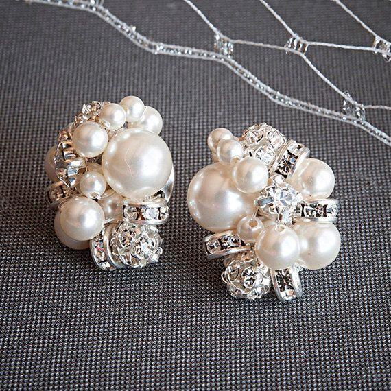 Pearl Cer Bridal Earrings Rhinestone And Stud Retro Vintage Style Crystal Wedding Jewelry Aster Ideas