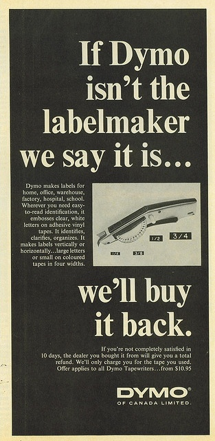 Old DYMO ad