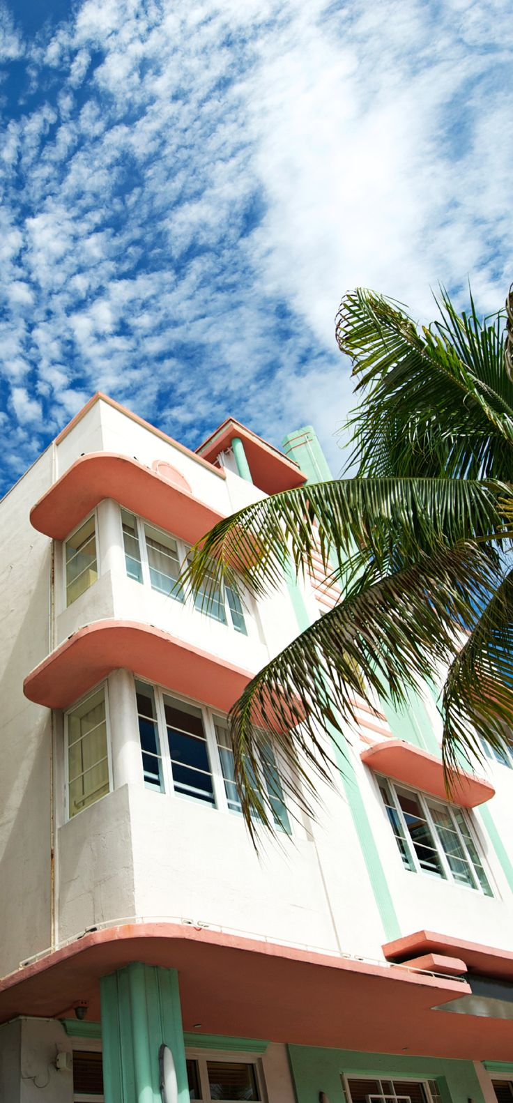 Pastels and palms in South Beach, Miami