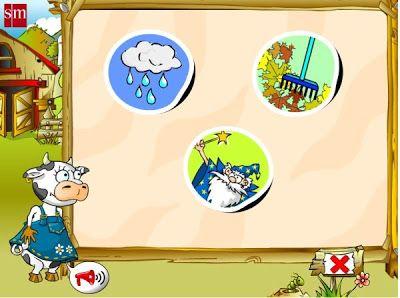 """""""Juega con Paca, la vaca"""", aplicación interactiva interdisciplinar, para Educación Infantil de 3 años, de Librosvivos.net, Editorial S.M., trata los elementos principales de este nivel educativo, dividida en cuatro partes."""