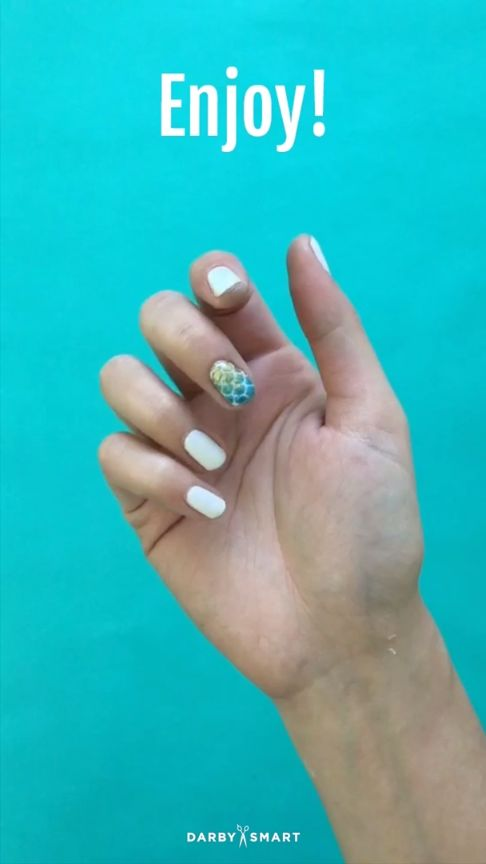 How To Do Mermaid Nail Decor