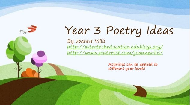 Year 3 Poetry Ideas - A Bunch of Fun Poetry Activities! - Australian Curriculum Lessons