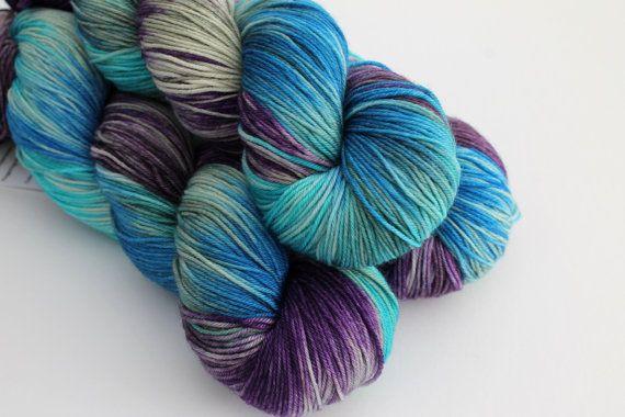 Nexus  Hand Dyed Yarn  100% Superwash Merino  by ThirdVaultYarns
