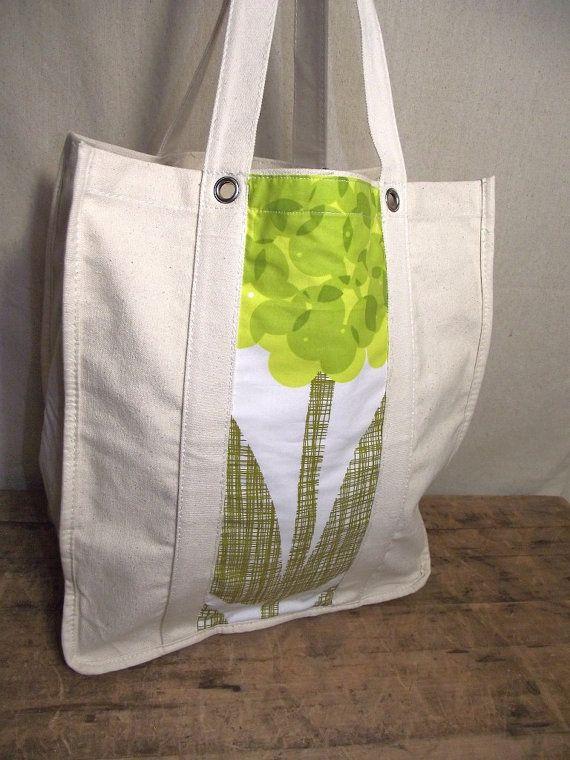 Orla Kiely Fabric Embellished SHopping Bag Tote Canvas Beach Picnic
