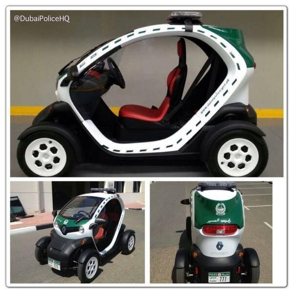 La Policía de Dubai reduce emisiones con un Renault Twizy | CarandDriverTheF1.com