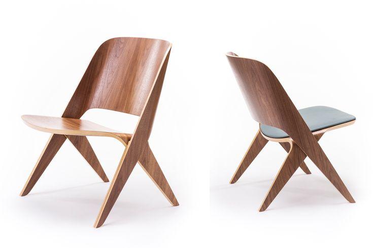 Misty Walnut Lavitta Lounge Chair by Poiat