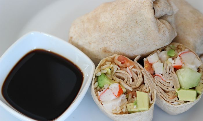 Featured: Skinny Moms California Roll Wraps  Nutrition   WW PP 3; Calories: 122.3; Fat: 5.7g; Protein: 7.5g; Carbohydrates: 18.2g; Fiber: 8.7g; Sugars: 2.4g