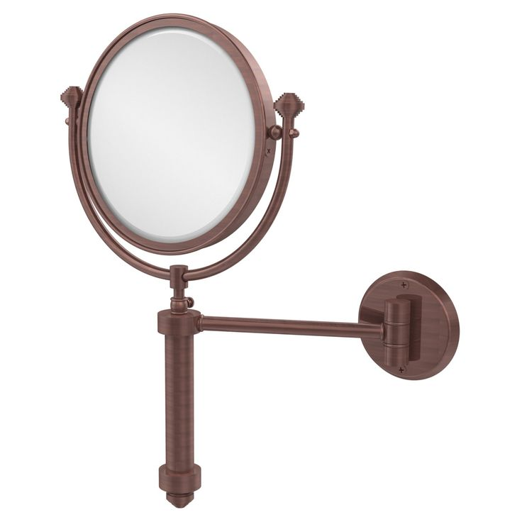 Allied Brass South Beach Wall Mounted Makeup Mirror with 5X Magnification - SB-4/5X-ABR