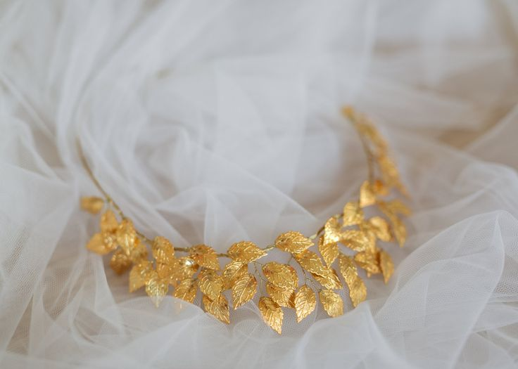 Griego diosa hoja corona diadema de hojas de boda Woodland