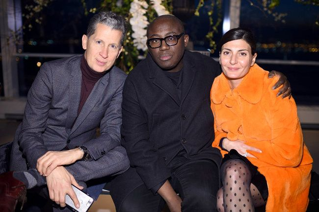 Stefano Tonchi, Edward Endinful und Giovanna Battaglia New York Fashion Week