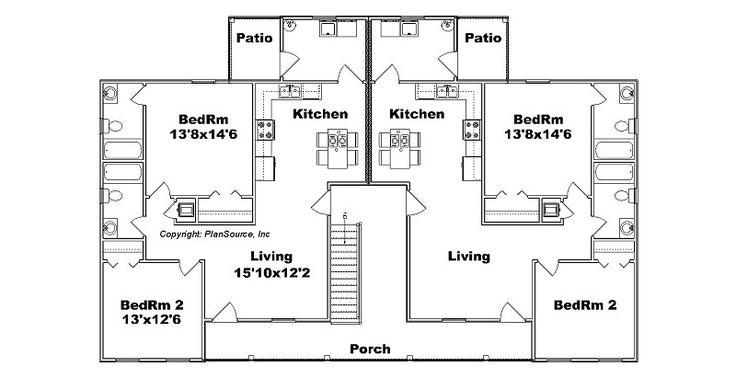 1000 images about studio apartment condo loft on for Apartment plans 8 plex