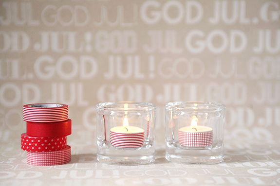 tea lights + washi = adorable (and easy!) via fixadona.se