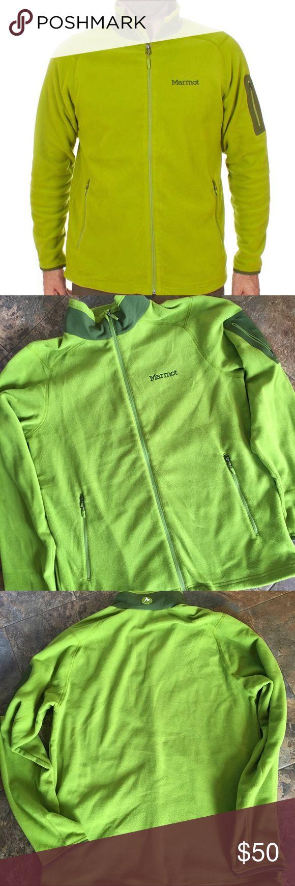 •Marmot• Reactor Fleece Jacket Green Lichen Mens M