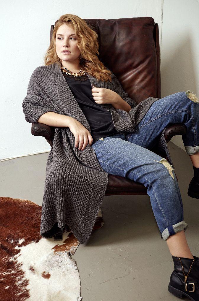 Cardigan Fur Grosse Grossen Toll Kombiniert Mode Grosse Grossen Mode Modestil