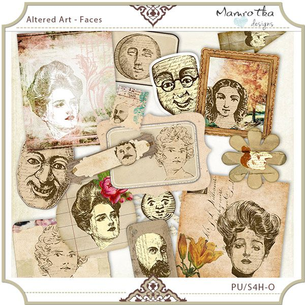 Altered Art - Faces