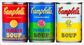 Campbell celebrates Andy Warhol's 50th Anniversary with four limited-edition cans of tomato soup