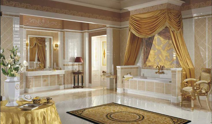 A beautiful versace tile bathroom miami home of gianni versace pinterest home - Piastrelle bagno versace ...