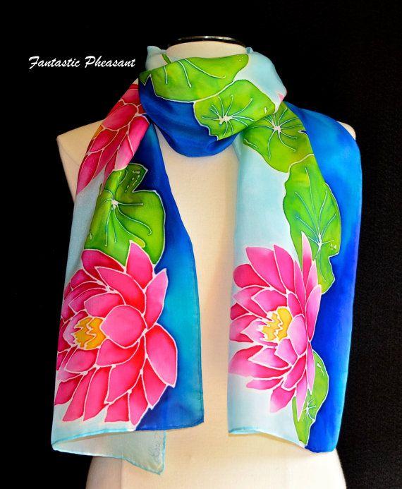 Cashmere Silk Scarf - BLUE DOLPHINS SILK SCARF by VIDA VIDA WsMTCwniW
