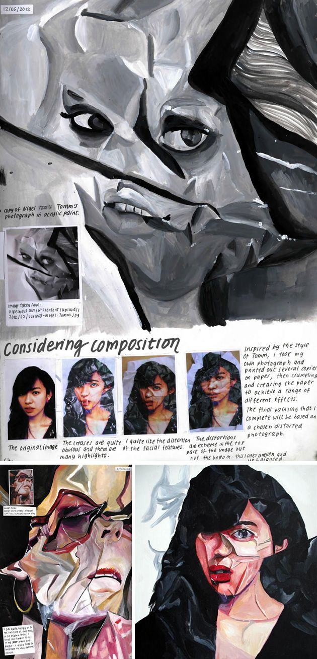 crumpled portraiture: IB Art