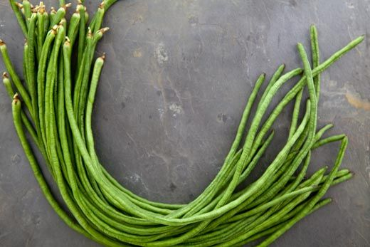 Sichuan Style Stir-Fried Chinese Long Beans ~ Long and crunchy Chinese green beans, quickly stir-fried Sichuan style with red chilies, Sichuan peppercorns, and sesame oil. ~ SimplyRecipes.com
