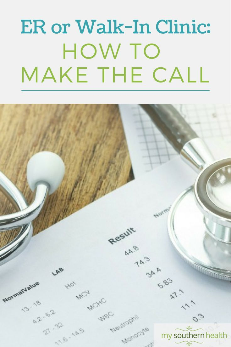ER vs WALK-IN Clinic.How to make the call when you need a doctor.