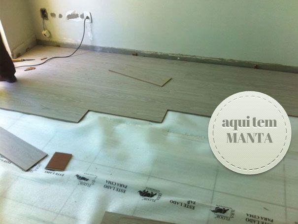 reformar piso colocação de manta em baixo do piso laminado