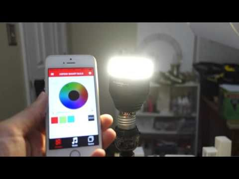 MIPOW E26 Bluetooth Smart LED Light Bulb REVIEW - YouTube