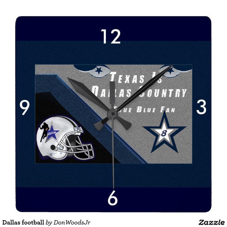 Dallas football square wall clocks